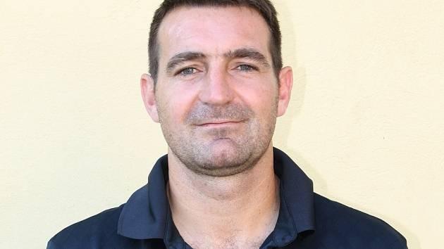 Fotbalový trenér MSK Břeclav Ivan Dvořák mladší.