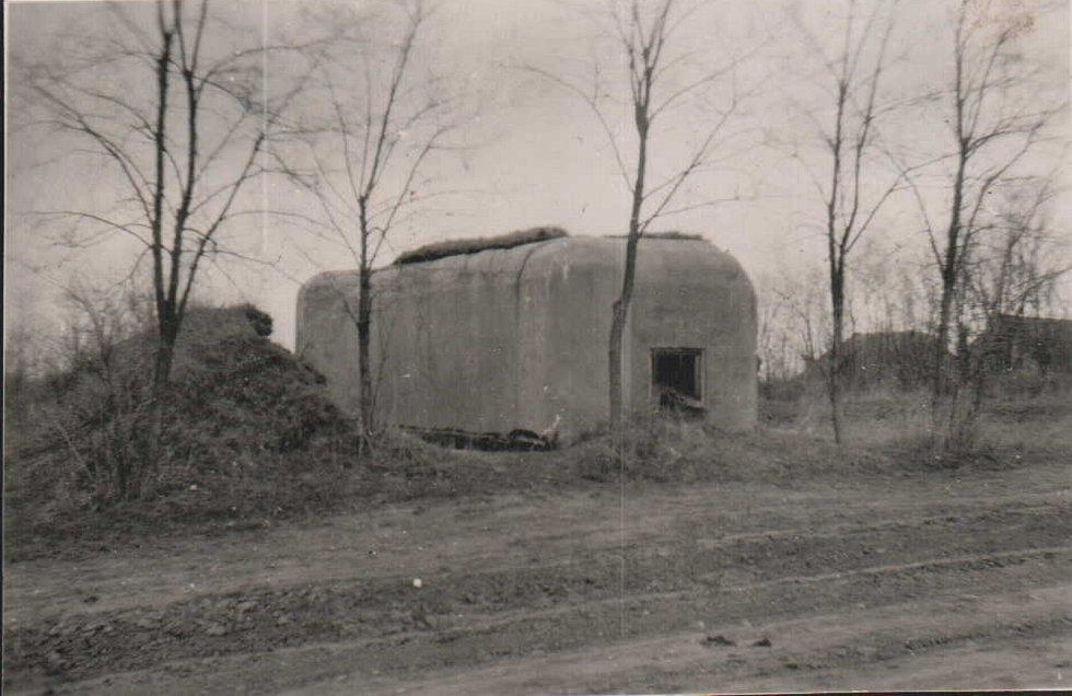Bunkr Pavla Maška v roce 1944.