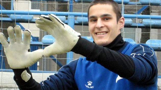 Martin Kreizl, brankář fotbalového celku mužů MSK Břeclav.
