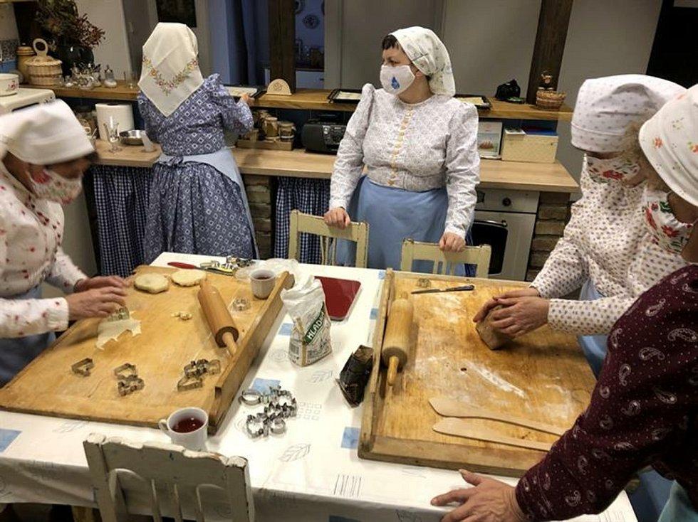 Z adventní návštěvy v muzeu obce Kobylí. Foto: archiv města Hustopeče