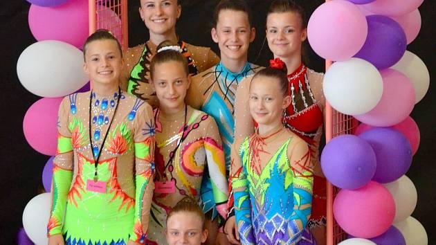 Všechny zástupkyně SK MG Břeclav v kombinovaném programu.