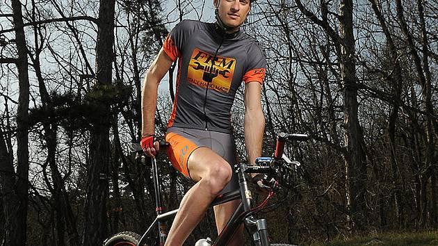 Břeclavský cyklista Bachman.