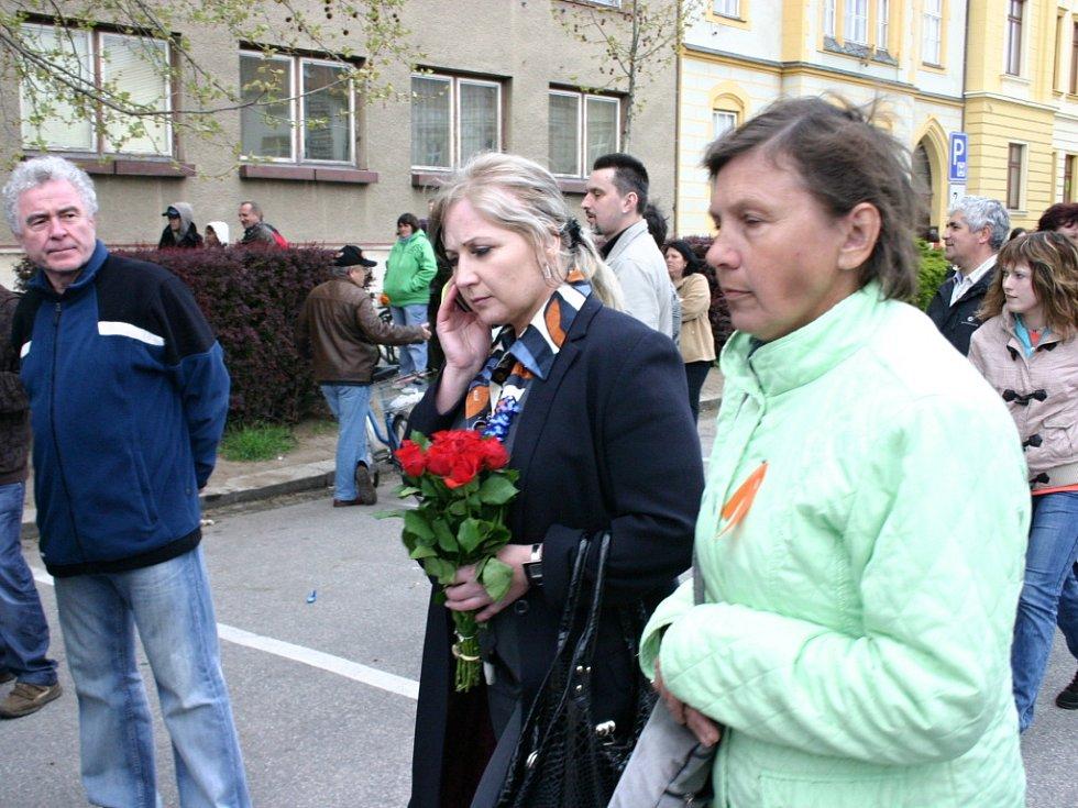 Matka zbitého mladíka Oksana Zhyvachivska.