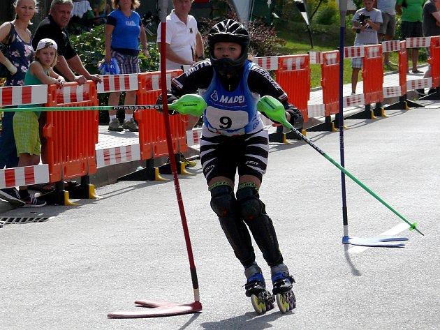 Přímo v Němčičkách si dali na 300 metrů dlouhém kopci dostaveníčko nejlepší světoví inline slalomáři