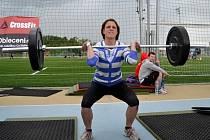 Bývalá atletka Markéta Malariková se dala na silový sport crossfit. Šedesátikilovou činku musela při závodech vytlačit nad hlavu pětkrát v co nejkratším čase.