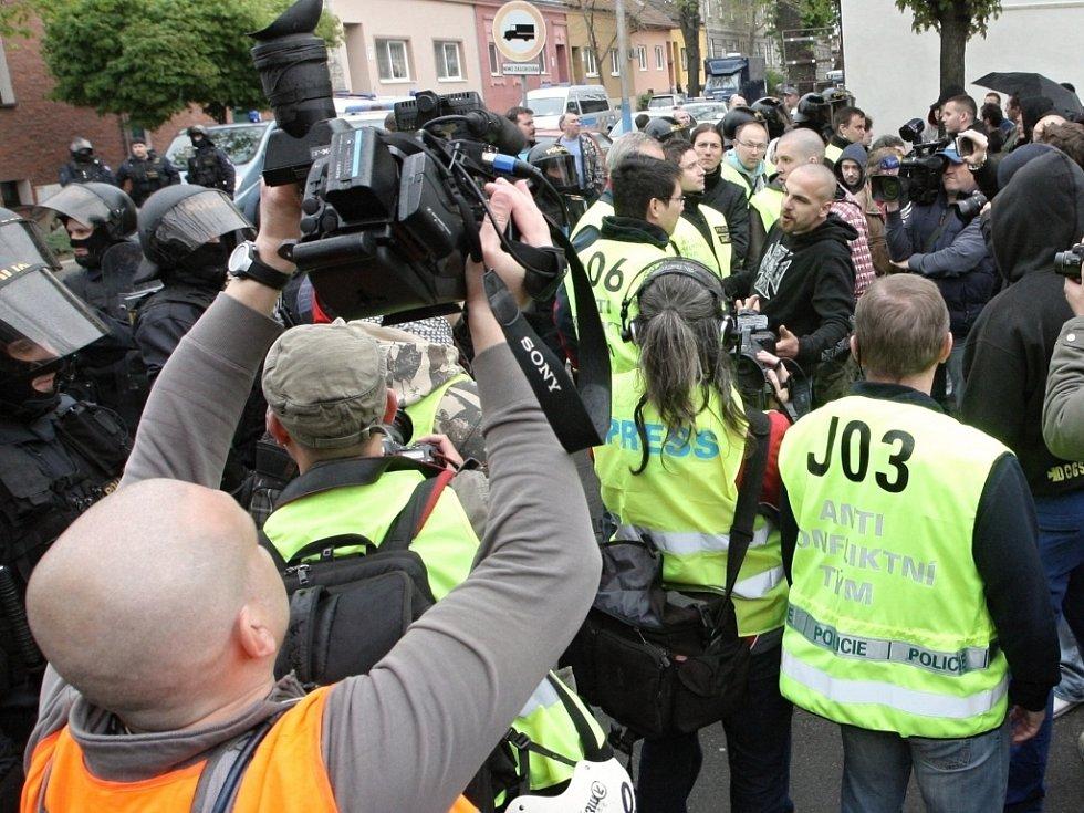 Protestní pochod Břeclaví za zraněného chlapce.