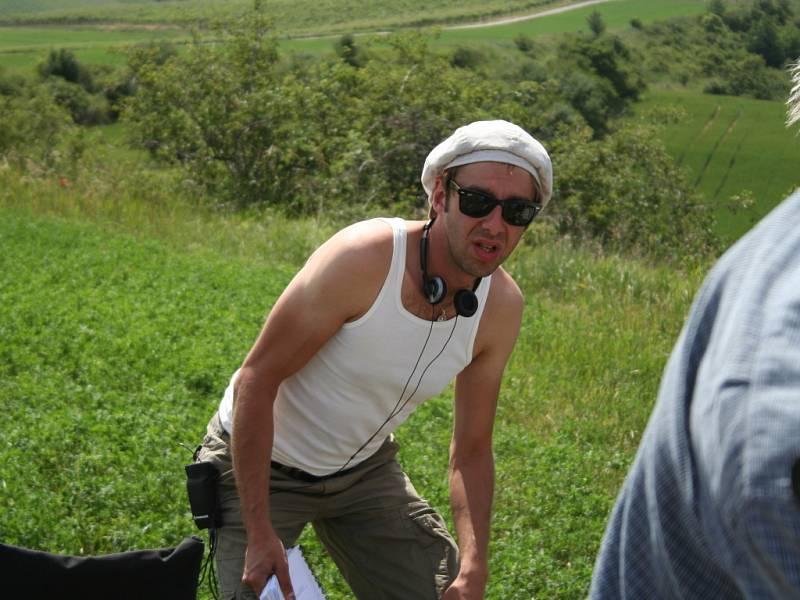 Natáčení pokračování filmu Bobule u Velkých Bílovic.