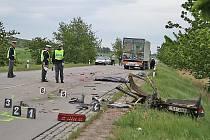 Dopravní policisté místo střetu okamžitě uzavřeli a odklání dopravu přes Zaječí a dálnici