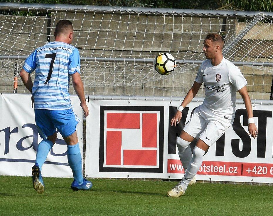 Fotbalisté Lanžhota při utkání s Humpolcem.