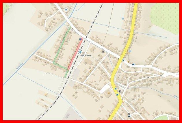 Za kolejemi vdolní části obce zvané Zelničky začaly práce na opravách tamní silnice.