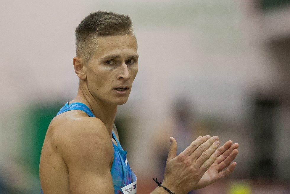 Radek Juška na atletickém mítinku Jablonecká hala v roce 2018.