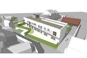 Vizualizace bytového domu v Rakvicích ve Dvorní ulici.