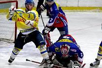 Břeclavští hokejisté v zápase proti Novému Jičínu zahodili mnoho šancí, i proto prohráli 0:2.