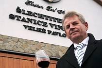 Majitel Šlechtitelské stanice vinařské ve Velkých Pavlovicích Vladimír Poliak.