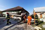 Exploze domu v Perné na Břeclavsku.