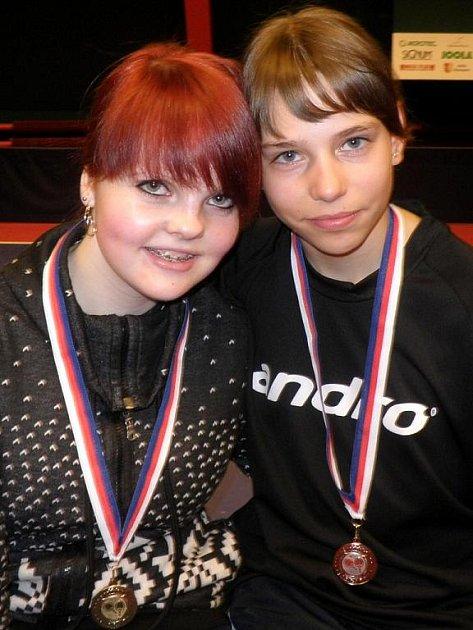Týmové kolegyně Svatava Janků (vlevo) a Magdaléna Šubíková na sebe na turnaji narazily až ve finále.