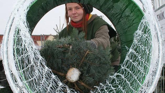 Prodej vánočních stromků. Ilustrační fotografie.