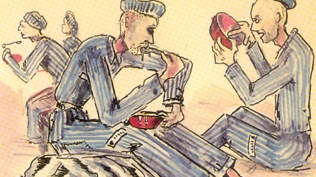 Alfred Kantor kreslil utrpení svých spoluvězňů přímo v koncentračních táborech.