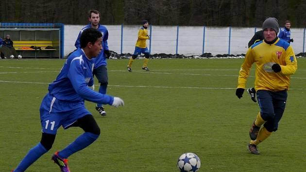 Fotbalisté MSK Břeclav v utkání s Tasovicemi.