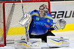 Břeclavští hokejisté (v modrém) nestačili na lídra ze Vsetína.
