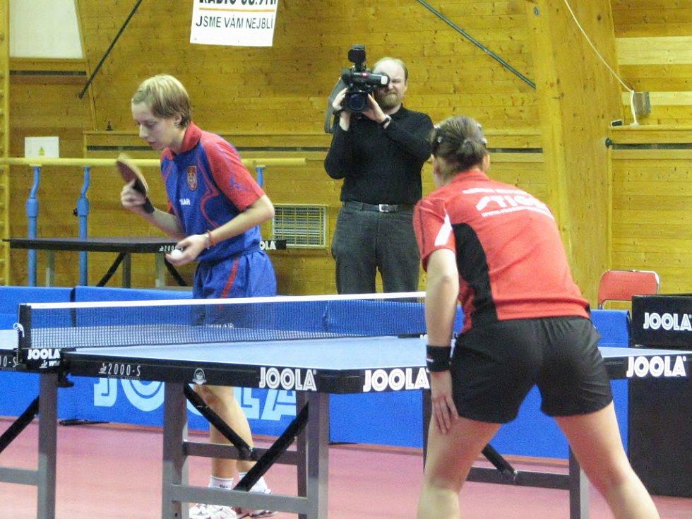 Břeclav hostila reprezentační utkání ve stolním tenise ČR - Srbsko