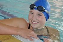 Radka Podešťová dokazuje, že je největším talentem hustopečského plavání.