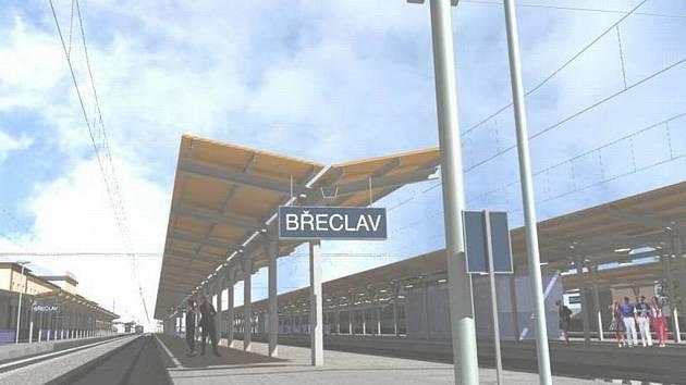 Vizualizace břeclavského nádraží.