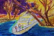 Děti měly za úkol ztvárnit život na vodě a na lodi.