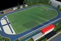 Studie pro nový stadion v Hustopečích.