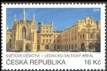 Lednický zámek se objevil na příležitostné poštovní známce.