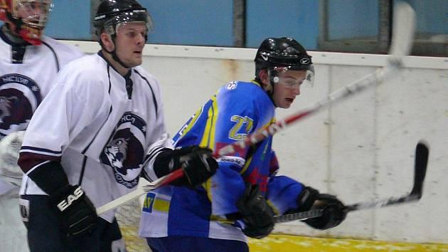 Břeclavský hokejista Tomáš Popolanský.
