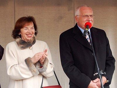 Václav Klaus s chotí