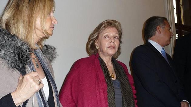 Argentinská princezna Mercedes von Dietrichstein stanula ve čtvrtek ráno v soudní síni Okresního soudu Břeclav.