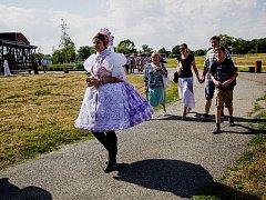 Den slovanských věrozvěstů oslavili na Slovanském hradišti v Mikulčicích.