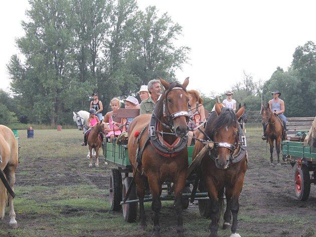 V Lanžhotě měli koně v sobotu svůj den. Návštěvníci viděli vozatajskou jízdu, western i tanečky.