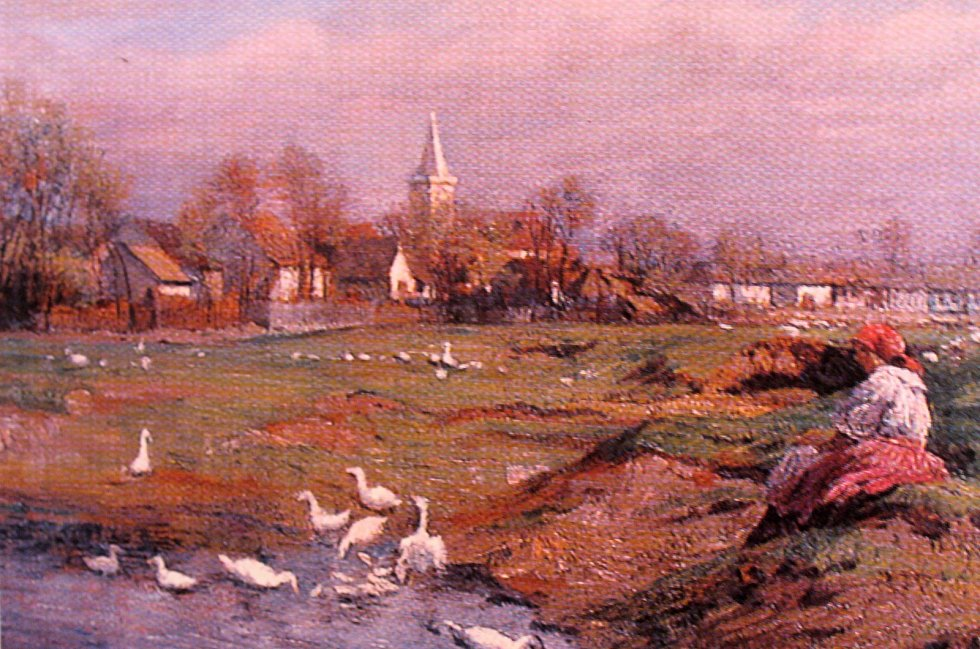 Malíř Othmar Růžička na svých plátnech zachytil život Moravských Charvátů v Jevišovce.