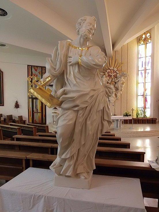Hustopeče,socha sv. Petra.