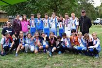 Sestava břeclavských veslařů sbírala úspěchy na závodech v Ostravě.