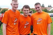 Kamil Koryčánek (uprostřed) je mozkem útočných akcí Hlohovce.