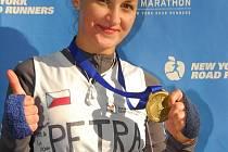 Maratónkyně Petra Příborská z Velkých Pavlovic.