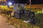 Tragická nehoda uzavřela po sedmé hodině večer silnici u Sedlce.