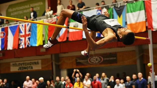 Brit Tom Gale (na snímku) vyhrál letošní ročník Hustopečského skákání skvělým výkonem 233 centimetrů.