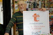 Pavel Knebl z Podivína se stal trafikantem roku.