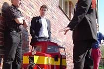 Bernard Mišun a jeho lokomotiva.