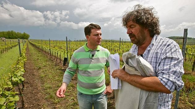 Natáčení Vinařské odyssey v Novosedlech.