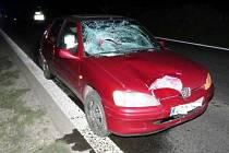 Na silnici mezi Hustopečemi a Velkými Němčicemi zemřela chodkyně poté, co ji srazilo auto.