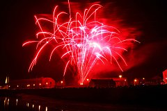 Tisíce lidí sledovaly novoroční ohňostroj v Břeclavi.