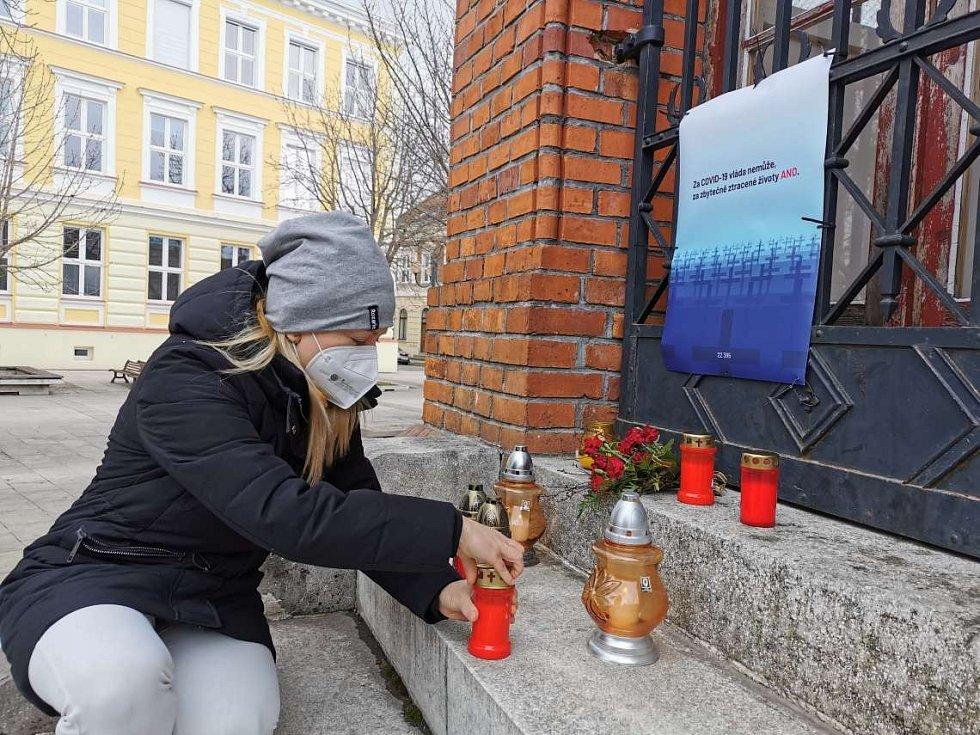 Také v Břeclavi si připomněli oběti koronavirové pandemie
