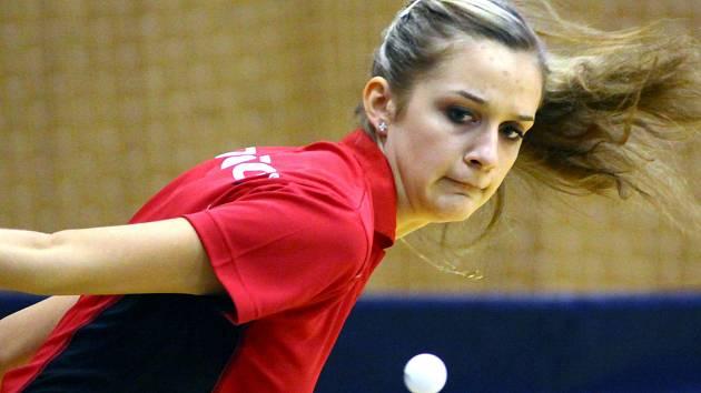 Valtická sportovní hala hostila stejně jako loni finále českého poháru stolních tenistů a tenistek.