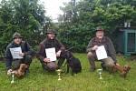 Lovečtí psi skládali zkoušky